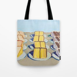 """Classical Masterpiece """"Cake Rows"""" by Wayne Thiebaud,1920 Tote Bag"""