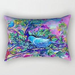 O Passaro Azul da Felicidade Rectangular Pillow