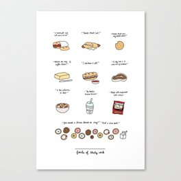 Foods of 30 Rock Canvas Print