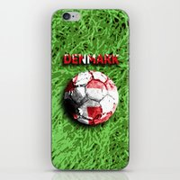 denmark iPhone & iPod Skins featuring Old football (Denmark) by seb mcnulty