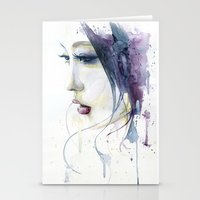 silent hill Stationery Cards featuring Silent by Cora-Tiana