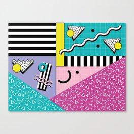 Memphis pattern 68 - 80s / 90s Retro Canvas Print