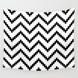 Tribal Chevron W&B Wall Tapestry