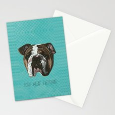 English Bulldog Print Stationery Cards
