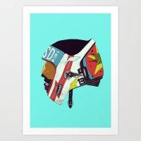 boneface Art Prints featuring Runaway II by boneface