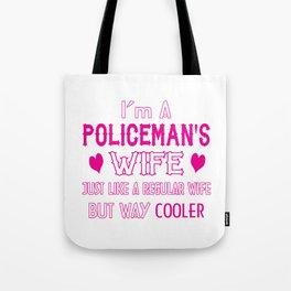 Policeman's Wife Tote Bag