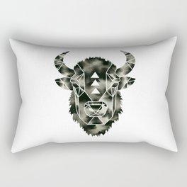 Fractured Geometric Buffalo  Rectangular Pillow