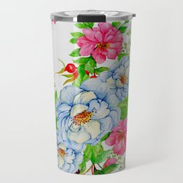 Vintage Floral Pattern No. 7 Travel Mug