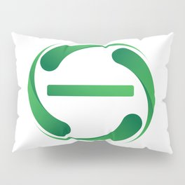 A sign for the toilet, Agender Pillow Sham