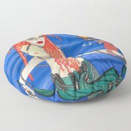 Mardi Gras Mermaid Floor Pillow