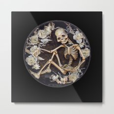 In Memoriam Skeleton  Metal Print