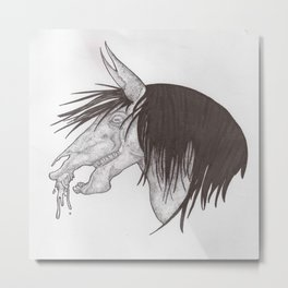 Kelpie head design Metal Print