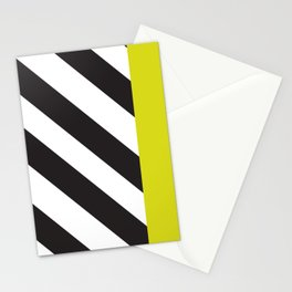 Memphis milano black yellow Stationery Cards
