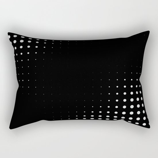Black raster - Optical game12 Rectangular Pillow