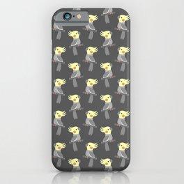 Cute cockatiel iPhone Case