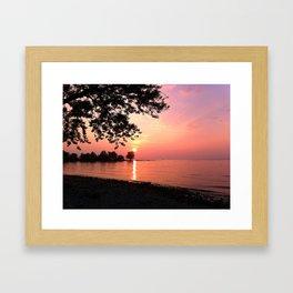 Sundown on Lake Constance Framed Art Print