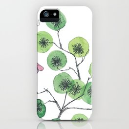 a touch of summer fragrance - white background iPhone Case
