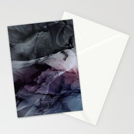 Moody Dark Chaos Inks Abstract Stationery Cards