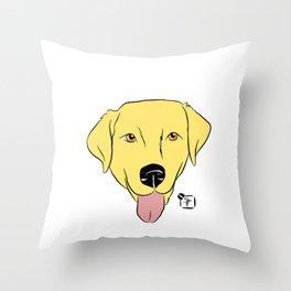Yellow Lab Face Throw Pillow