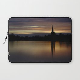 Lichfield Cathedral Sunset Reflection Laptop Sleeve