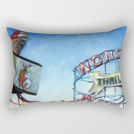 Thrills This Way Rectangular Pillow