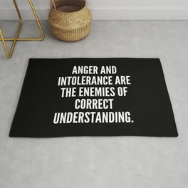Anger and intolerance are the enemies of correct understanding Rug