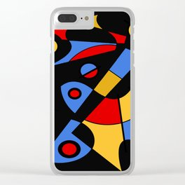 Abstract #115 Clear iPhone Case