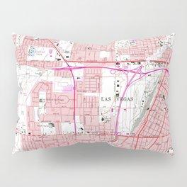 Vintage Map of Las Vegas Nevada (1967) 3 Pillow Sham