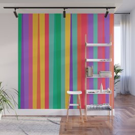 Happy color stripes Wall Mural