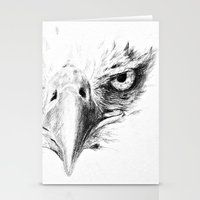 eagle Stationery Cards featuring Eagle by Anna Shell