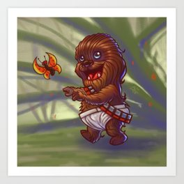 Baby Chewy Art Print