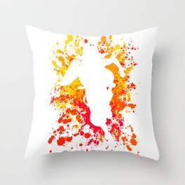 Anime Manga Ace Paint Splatter Shirt Throw Pillow