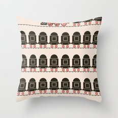 Stretched Out Locomotive  Throw Pillow