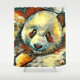 AnimalArt_Panda_20170601_by_JAMColorsSpecial Shower Curtain
