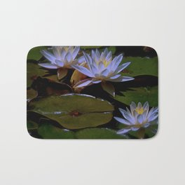 Luminous Water Lilies Bath Mat