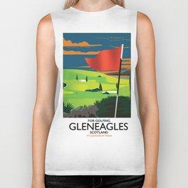 Gleneagles Scotland Golf travel poster Biker Tank