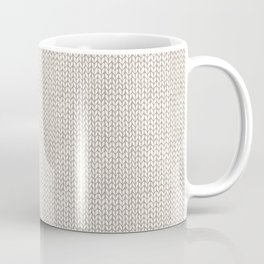 Neutral knitted texture Coffee Mug