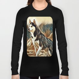 The Siberian Husky Long Sleeve T-shirt
