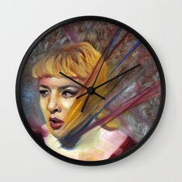 Olivia, Fine Art Oil Painting Portrait Print Wall Clock