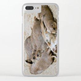 Prairie dog love Clear iPhone Case