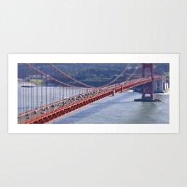 Golden Gate Tilt-shift Art Print