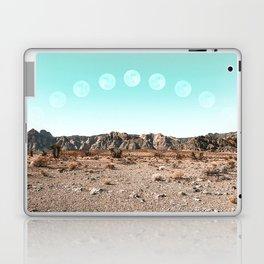 Desert Daylight Moon Ridge // Summer Lunar Landscape Teal Sky Red Rock Canyon Rock Climbing Photo Laptop & iPad Skin