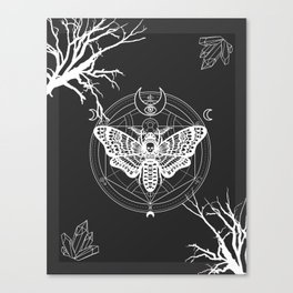 Witch Craft White Canvas Print