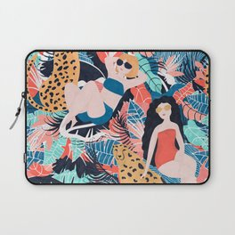 Tropical Girls with Cheetah Laptop Sleeve