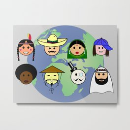 People worldwide anti racism pro diversity Metal Print
