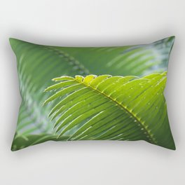 Tropical Palm Tree Leaf Rectangular Pillow