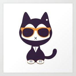 Cute kitten in sunglasses Art Print