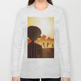 One Day   Soccer in the Heat of day Long Sleeve T-shirt