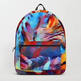 Iguana Watercolor Backpack