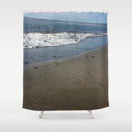Black sand beach, El Salvador 2 Shower Curtain